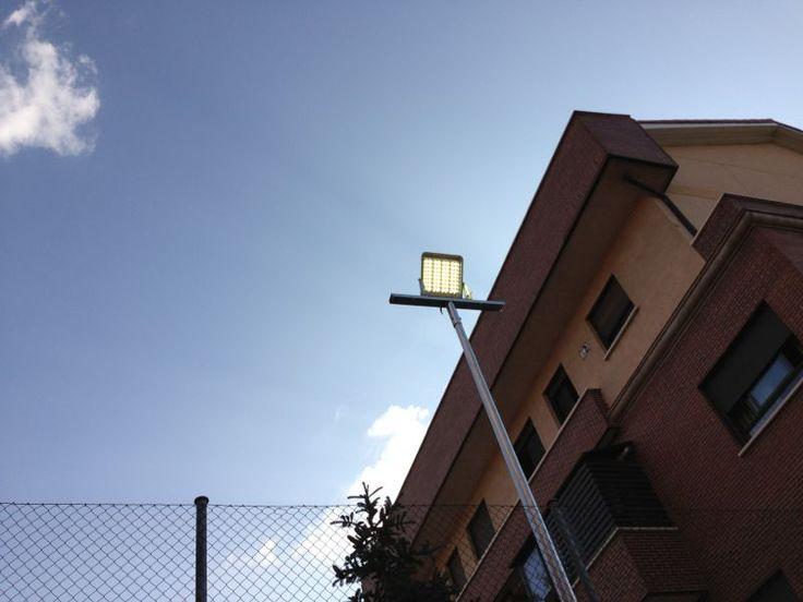 Proyectores de led para pista de pádel de muro, 160w, ahorro energético del 70% en iluminación