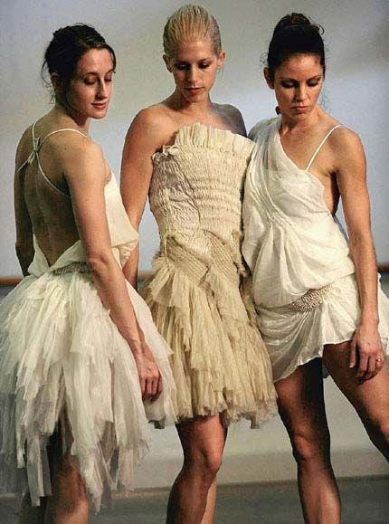 "The Sydney Dance Company dancers model Akira Isogowa's designs for Graeme Murphy's ""Grand""."