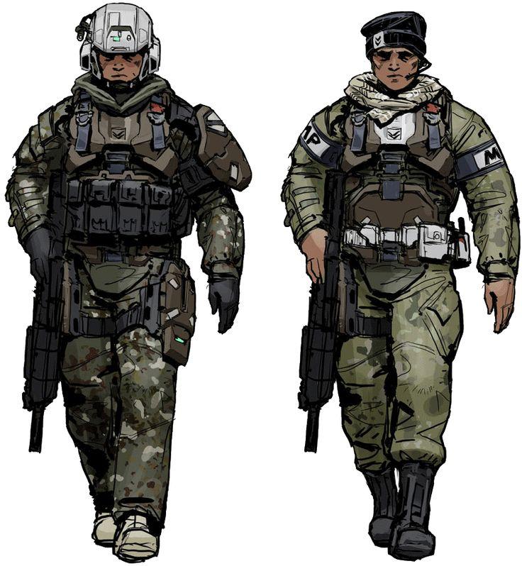 Futuristic Military Un...