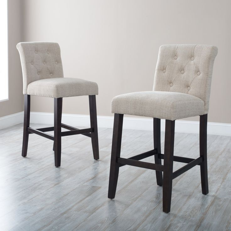 Morgana Beige Tufted Counter Stool - $99.99 @hayneedle & Best 25+ Counter height bar stools ideas on Pinterest | Kitchen ... islam-shia.org