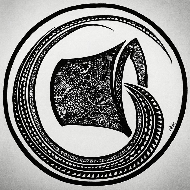 Zentangle Zodiac art - Aquarius,  (Made with a black MICRON pen - different sizes). #PLKdesign