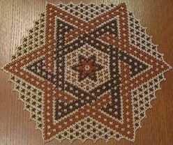 flat bead doily - Google Search