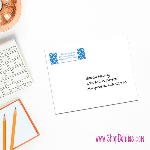Complement your stationery with these custom return address labels! All of our products feature FREE shipping! Our custom stationery is printed on ultra-premium paper and is designed and produced in the United States.