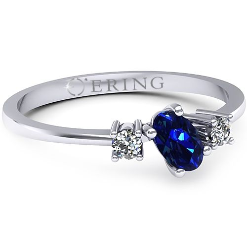 Inel logodna L05ASF inel cu diamant si safir