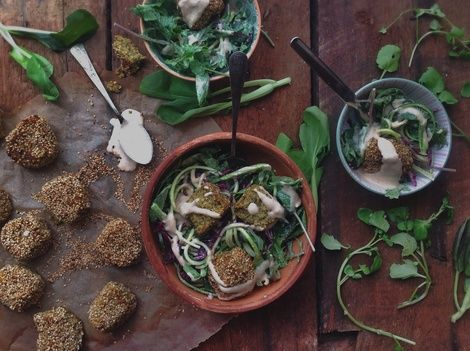 Falafel Salad Recipe  #healthy #vegan