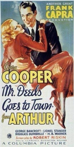 Gary Cooper and Jean Arthur in  Mr Deeds Goes To Town