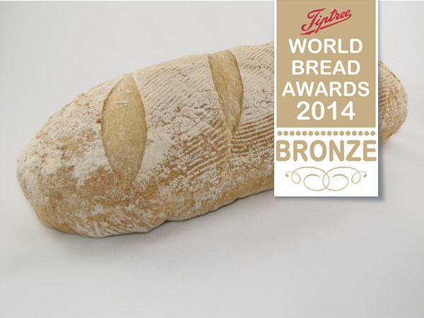 Artisan Bloomer Bronze Award at the Tiptree World Bread Awards - http://www.breaddujour.co.uk/order-bread/artisan-bakery/bloomer-artisan-800g