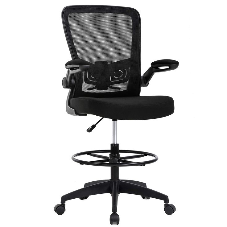 Drafting chair tall office chair adjustable height with