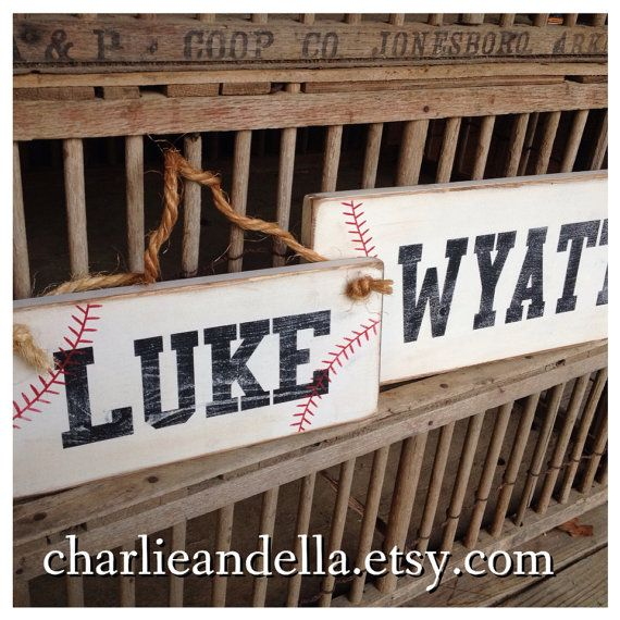 BASEBALL SOFTBALL SPORTS Personalized Name Sign Door Sign Wall Hanging on Etsy, $22.00