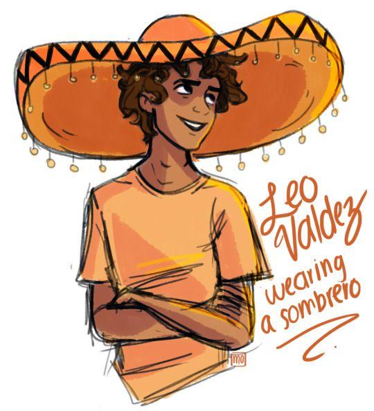 I could totally come up with a plot for this: The seven went to a Mexican restaurant for Leo's birthday, and the staff is required to put the sombrero on any birthday people.