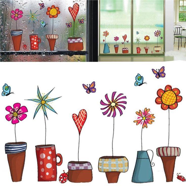 Väggdekal Väggdekor dekal dekor Blomma Blommor