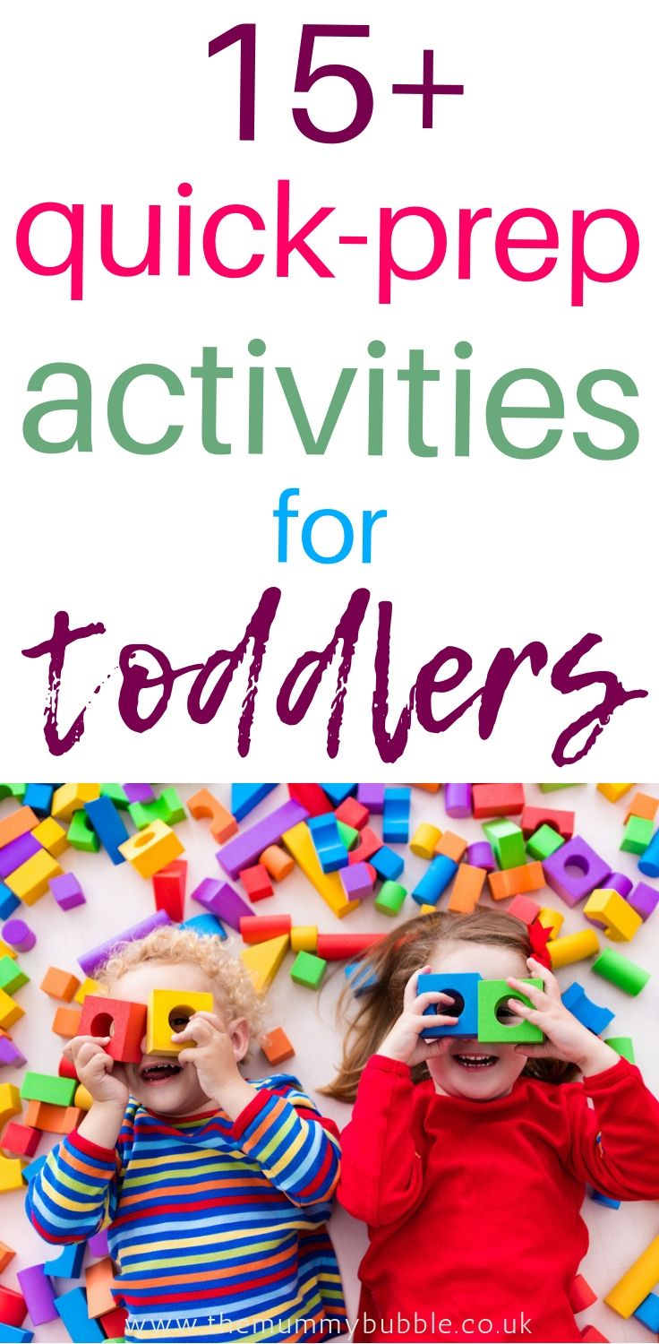 Quick-prep activities for toddlers