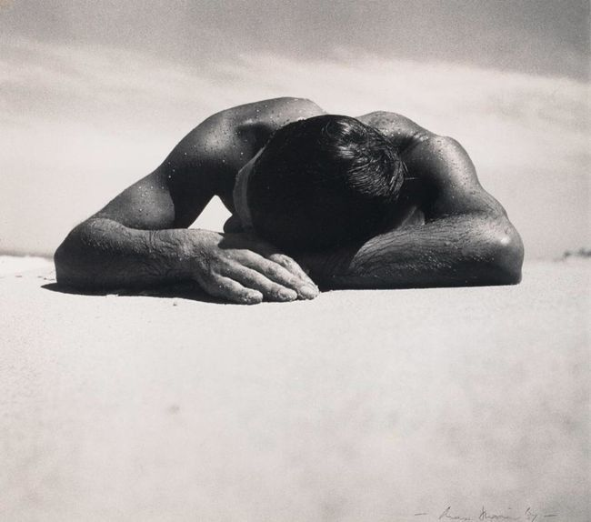 34 iconic moments in swimwear history: 1937: Max Dupain's Sunbaker is one of Australia's most popular beach photographs all of time. Image credit: Max Dupain via Instagram.com/_articulatepr