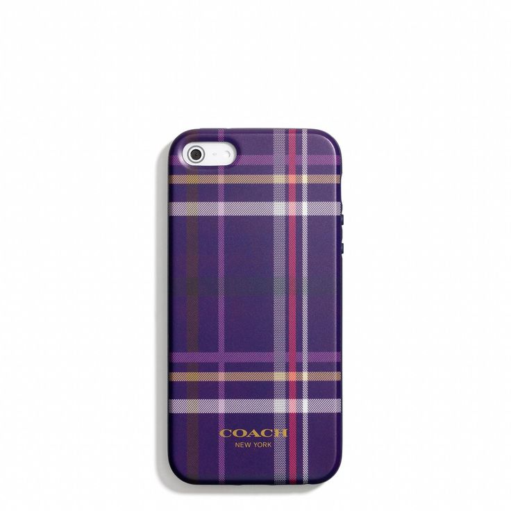 The iPhone 5 Case in Plaid Print from Coach
