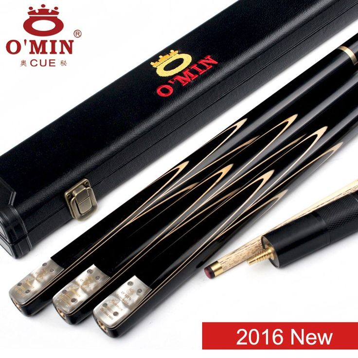 159.48$  Watch now - http://aligga.worldwells.pw/go.php?t=32690120190 - 2016 New Omin GunMan Handmade 3/4 Snooker Cues 9.8mm Tip Snooker Cue Case Set With Extension Ash Shaft Ebony Handle Fast Ship