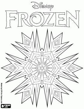 Frozen Color Book Pages