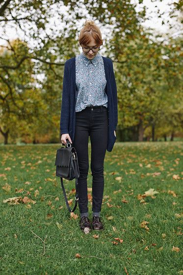 I pinned because of the cute print, and blue. The cardigan is okay, though maybe a little long