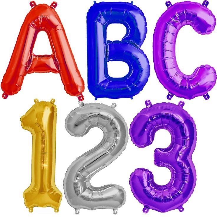 Folienballon Set Schulanfang ABC 123 41 cm Das jetzige