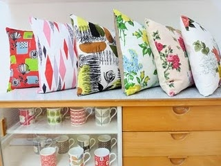 Vintage fabric cushions- Jane FosterFoster Blog, Call Jane, Jane Foster, Foster Pillows, Design Sell, Foster Design, Pillows Power, Beautiful Pillows, Mugs