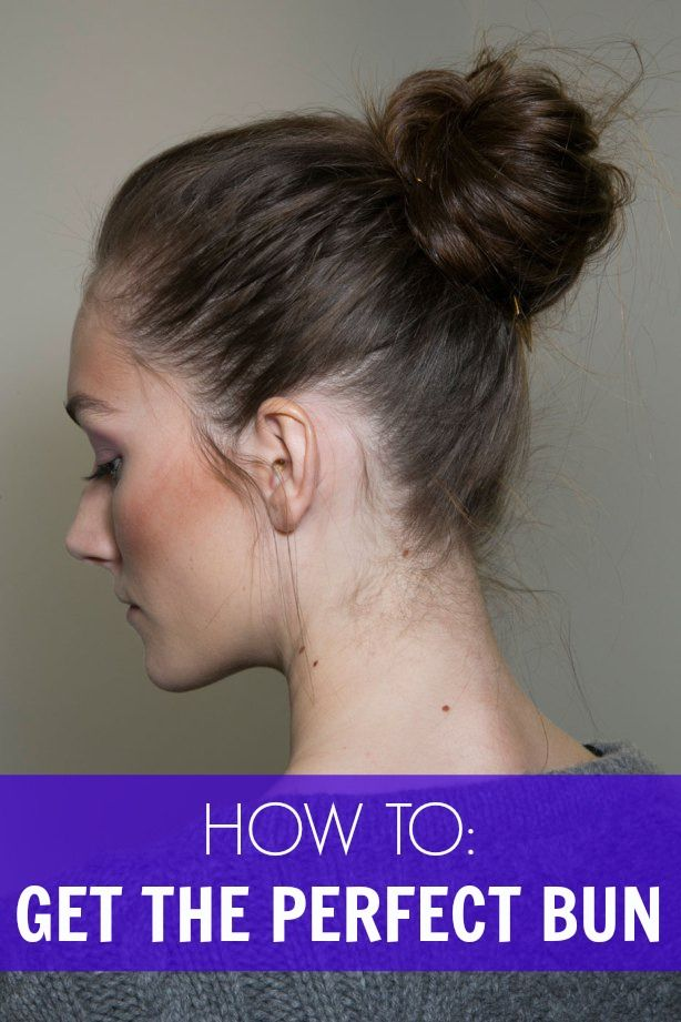 How to get the perfect bun!