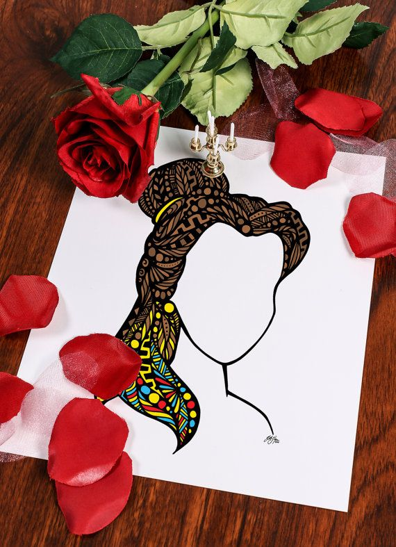 Zentangle  Beauty without the Beast by ZenspireDesigns on Etsy