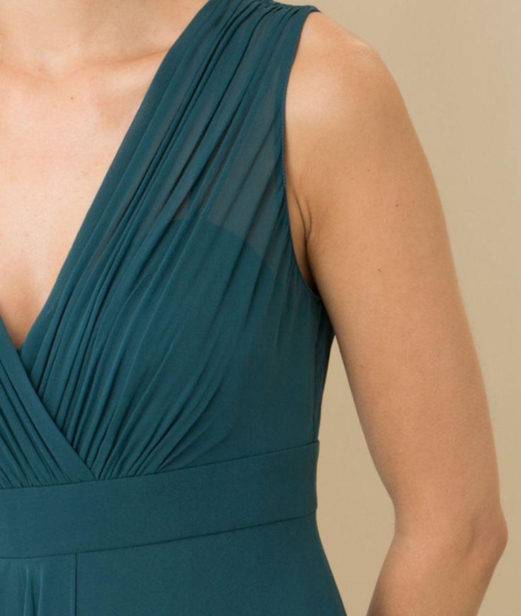 Robe bleu canard en soie Loulou