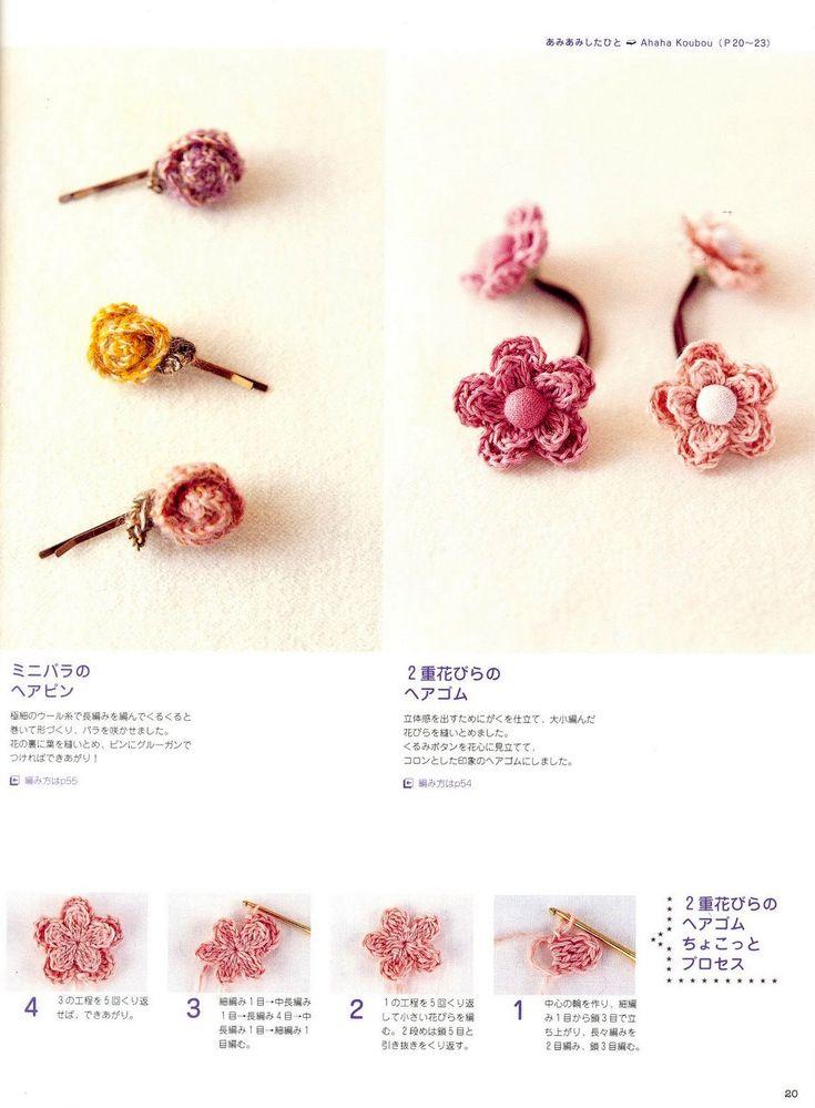 CROCHE DA ANJINHA: Flores ,muitaaaaaaas flores!!e enfeites para cabelo...