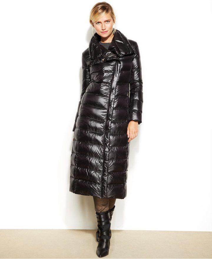 Calvin Klein Asymmetrical Maxi Down Puffer Coat on shopstyle.com