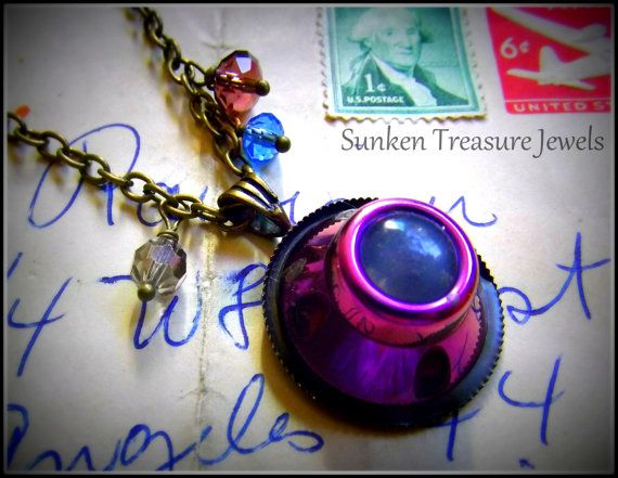 Chemotherapy Port Necklace/Cancer by SunkenTreasureJewels on Etsy, $39.00