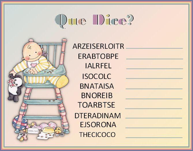 Imprimir Juegos Para Baby Shower | Juegos de mesa para baby shower para imprimir gratis - Imagui