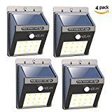 #5: 12 LED Solar Lights Iextreme Waterproof Solar Powered Motion Sensor Light Wireless Led Security Lights Outdoor Wall Light for Driveway Patio Garden Path 4 Pack