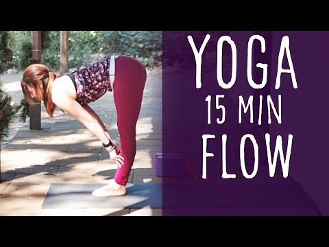 15 Minute Yoga Flow with Lesley Fightmaster - YouTube