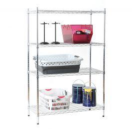 4 Tier Wire Shelf - Chrome