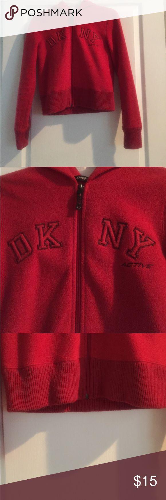 DKNY Hoodie Red DKNY hoodie. Super sweet soft and comfy. Dkny Tops Sweatshirts & Hoodies