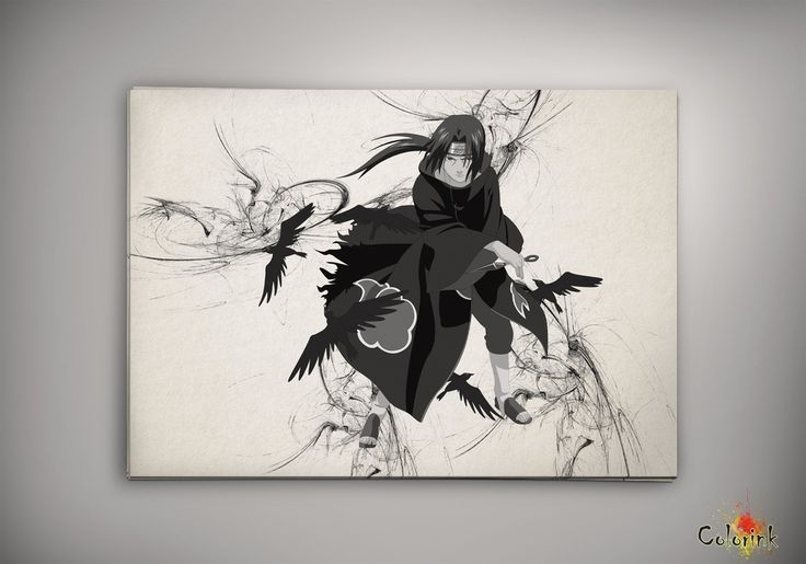 Image of naruto - Sasuke - Itachi - Sharingan - Uchiha - Madara - Kakashi watercolor print poster n217