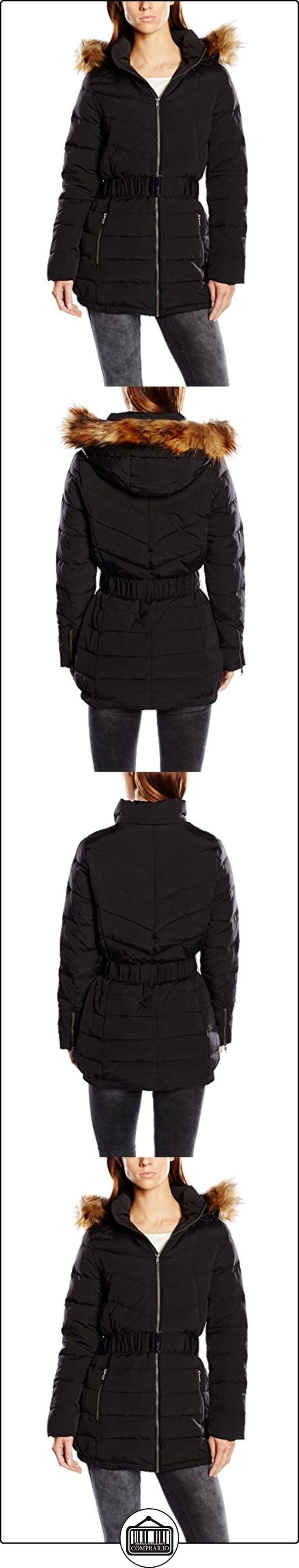 Naf Naf BELOW K2 - Abrigo de plumas para mujer, color negro, talla 34  ✿ Abrigos y chaquetas ✿