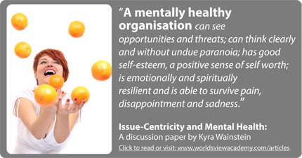 """WorldsView Academy Article """"Why is mental health important in organisation development?"""""""