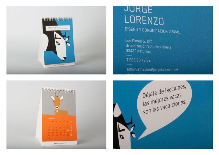 Calendario 2009, miniversos #design #Asturias