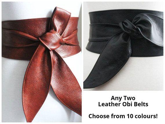 Qualsiasi cinture di cuoio due Tulip cravatta Obi   Cinture in vera pelle   Multi profilo   tulipano legare cinture   Cinture in pelle Ladies   per taglie   cinture corsetto