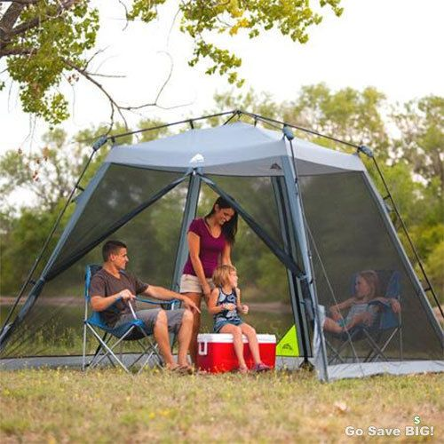 Ozark Trail 10' x 10' Instant Screened Canopy Tent Patio Outdoor Camping Shelter #OzarkTrail