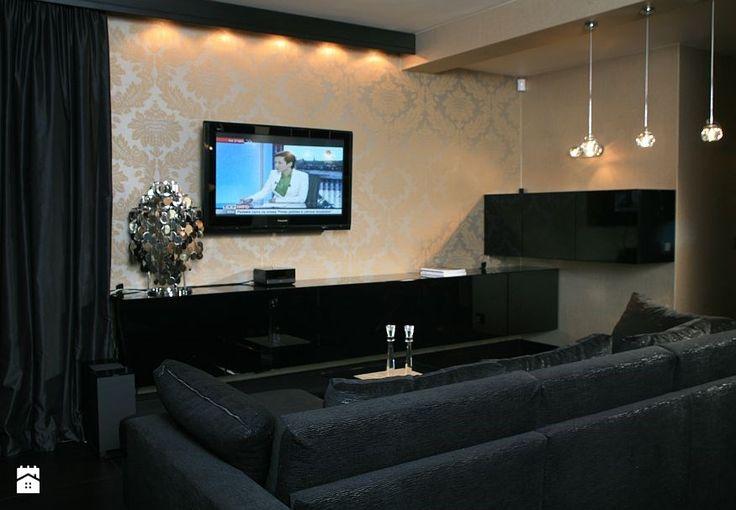 Salon z czernią - zdjęcie od Magya - Salon - Styl Glamour - Magya