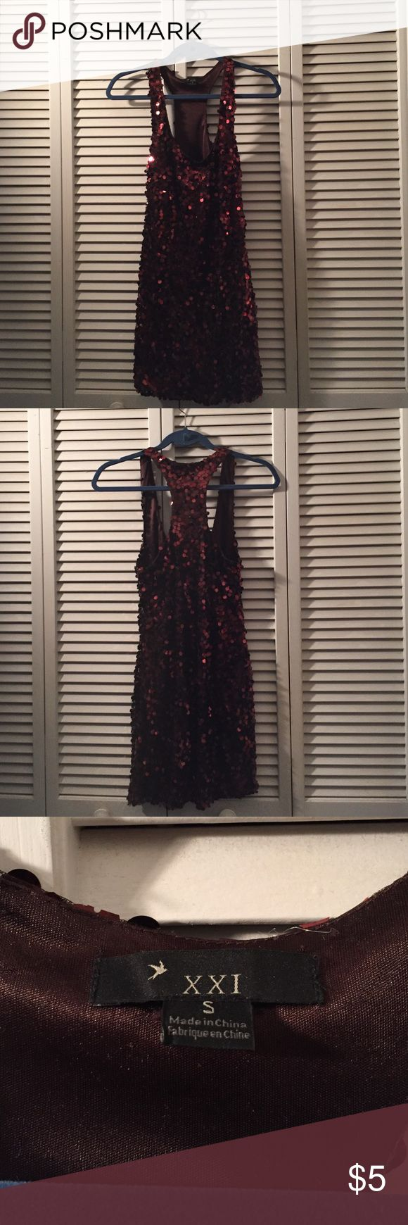 Sequin Forever 21 party dress Sequin Forever 21 party dress! Great for a night out only worn once and in perfect condition! Available in size small Forever 21 Dresses Mini