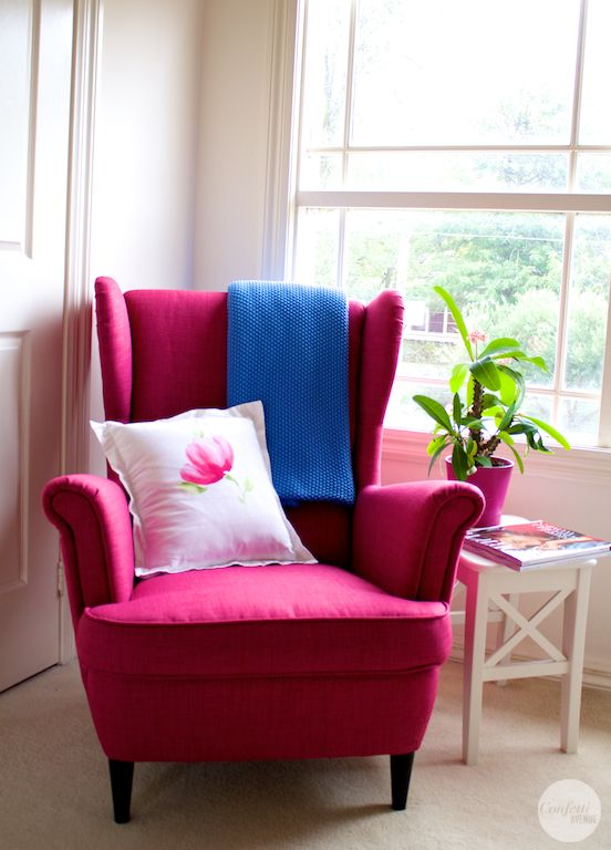 Elegant Confetti Avenue By Charlotte Hartwell: IKEA Strandmon Pink Wing Chair    I  Wish They Still Carried This Color ;