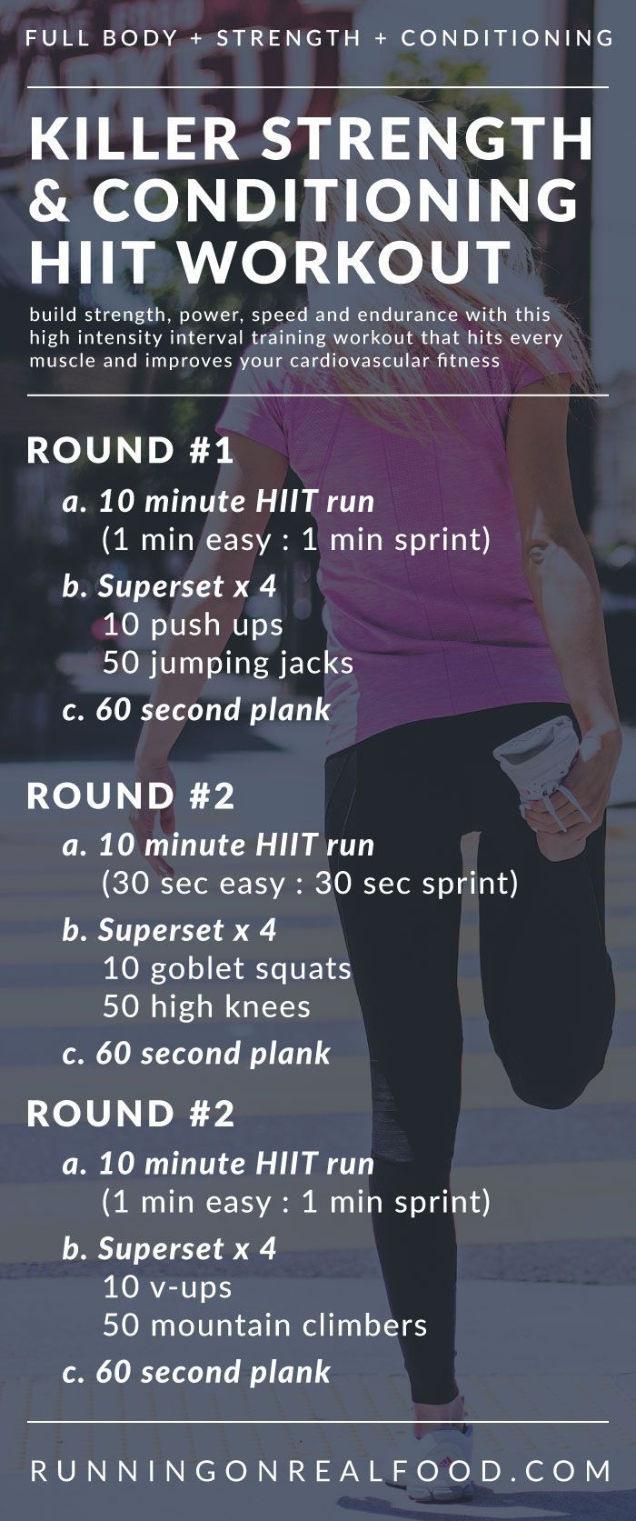 Killer Full-Body HIIT Workout via @runonrealfood