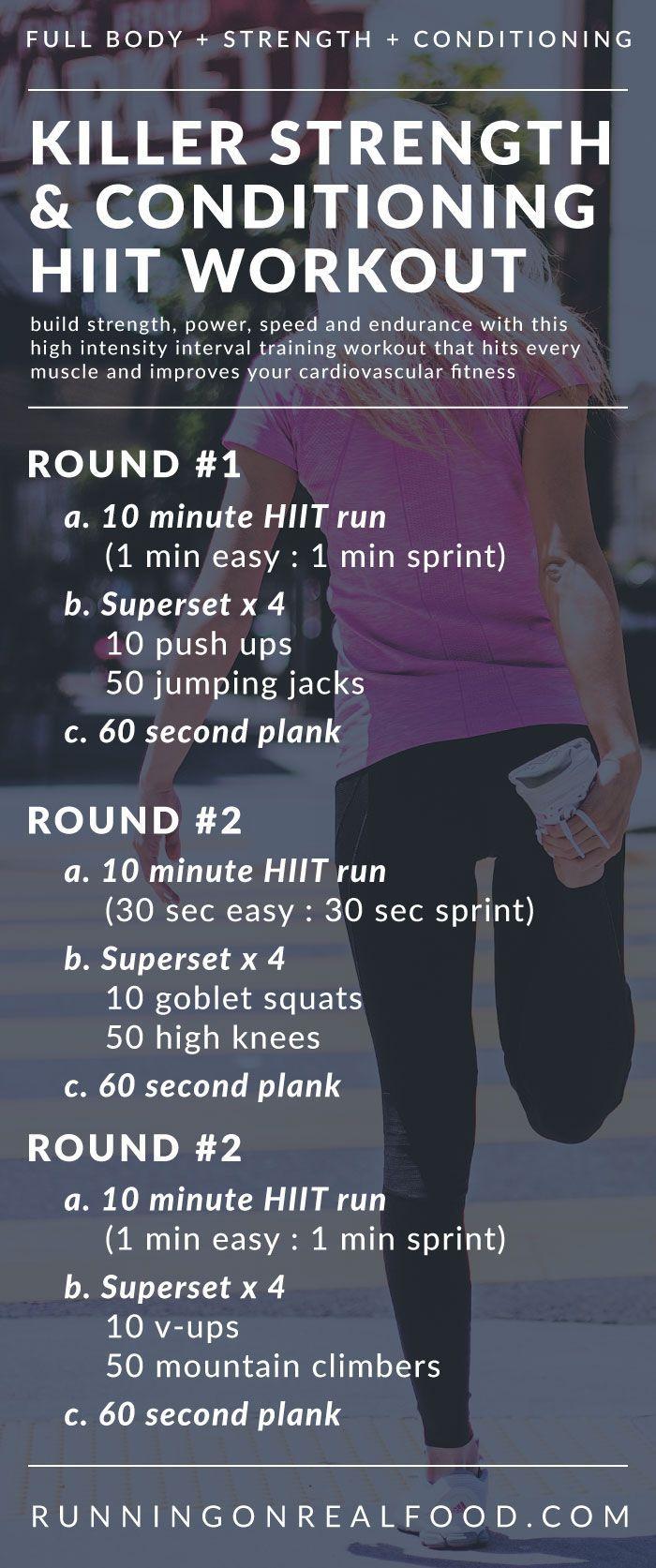 Killer Full-Body HIIT Workout via @runonrealfood