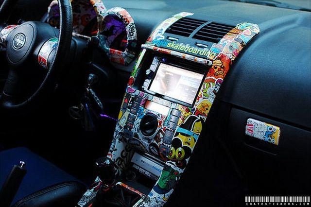 sticker bomb interior wrap by Technotic Media, via Flickr