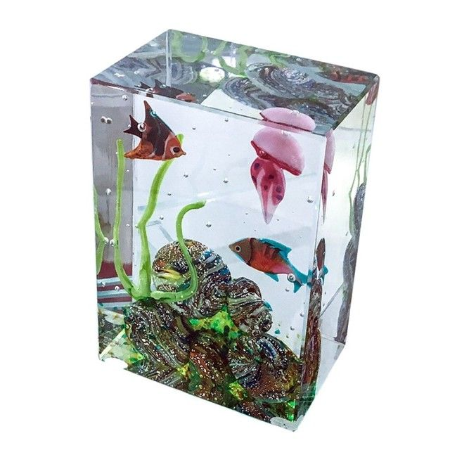 #MuranoGlass #aquarium: an original sculpture in massello glass that will decorate any room of your house. A timeless piece of art.