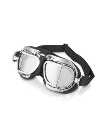 Bentley's classic leather goggles. ========================= Bentley's classic leather goggles are based on an original design used by pilots in the 1940's featuring a leather face mask, adjustable nose bridge, polished chrome frame and 3mm clear laminated glass lenses. Designed in England $198.00 http://aviation.luxusxxl.com/aviation-accessories/