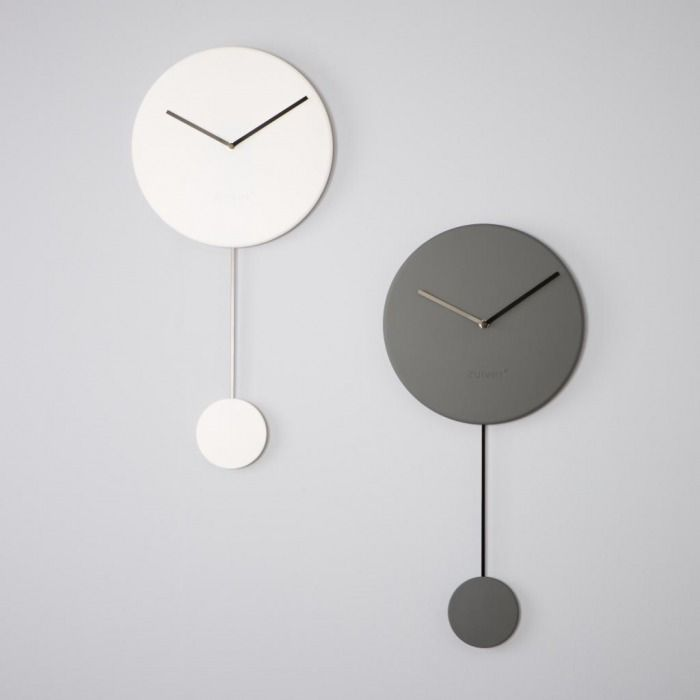 Zuiver Minimal Pendulum Clock Wall Clock With Soft Touch Rubber Coating Abs Dial And Powder Coated Aluminium Clock Wall Decor Wall Clock Design Minimal Clock