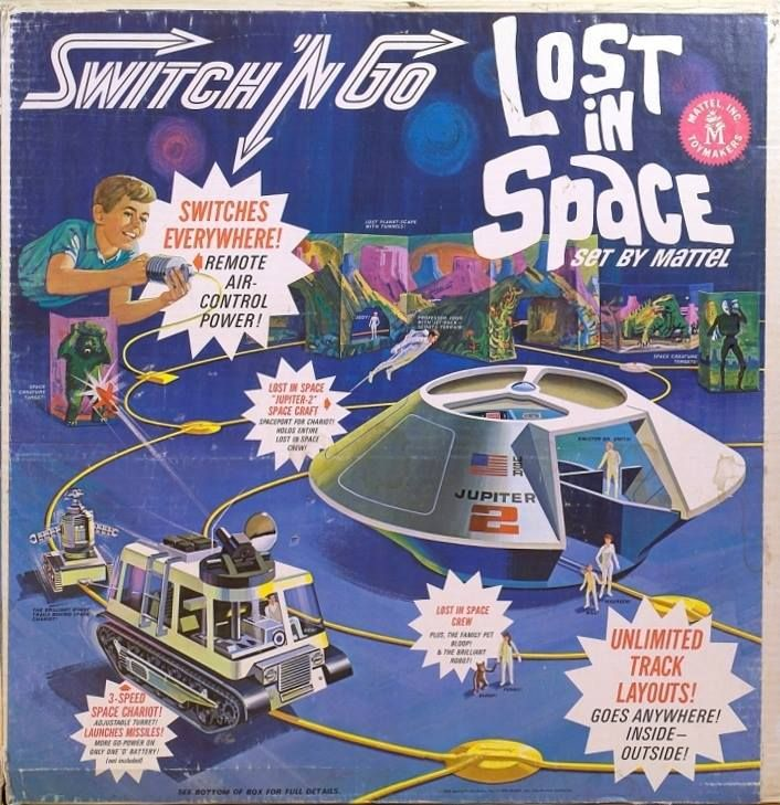 Old Mattel Toys : Vintage toy package design the switch n go lost in space